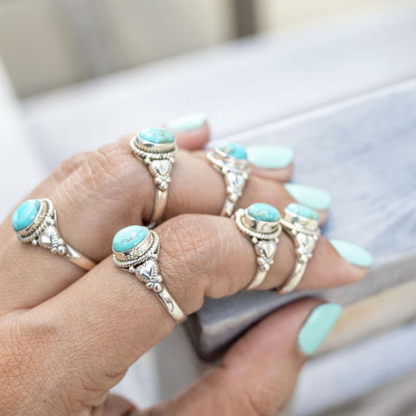 no.2 silver925×turquoise ring