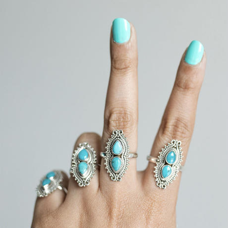 no.5 silver925×turquoise