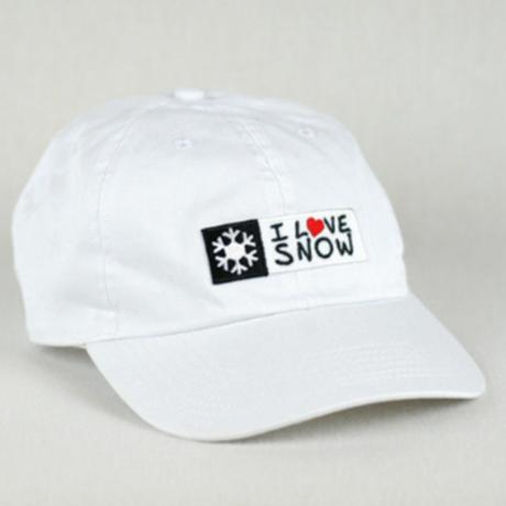 I LOVE SNOW Classic キャップ (ホワイト)