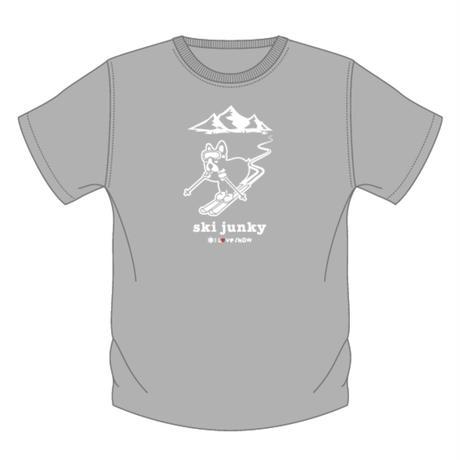 ski junky コラボ T シャツ(グレー)