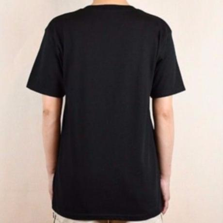 I LOVE SNOW Classic コットンTシャツ(ブラック)