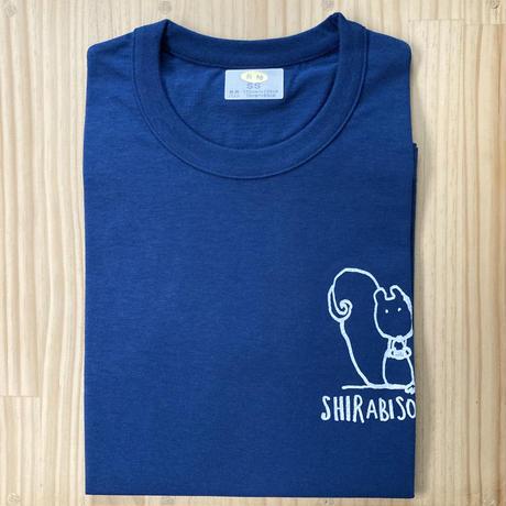 長袖Tシャツ【りす】ネイビー