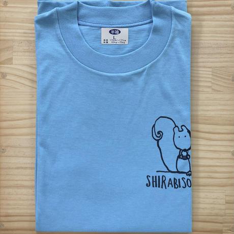 オリジナルTシャツ【りす】ブルー