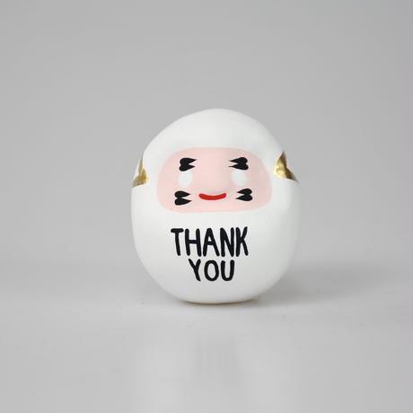 THANK YOU だるま 白 S