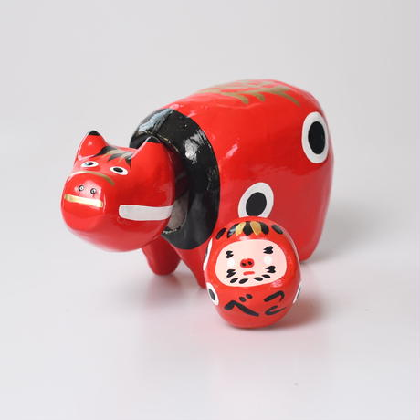 【迎春フェア】干支かざり(赤べこ)〜500円相当の干支だるま「赤べこ」付き〜