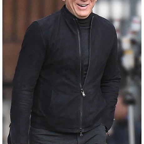 本革 007 スペクター ジェームズボンド着用 ブラック スウェード ジャケット レザー ダニエルクレイグ