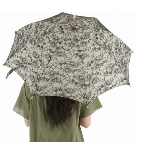 日本製 日傘 ひがさ パラソル UVカット 京都匠の職人が作る ボンディングレース 大人の日傘  オフホワイト