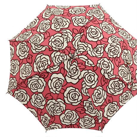 日本製 日傘 ひがさ パラソル UVカット 匠の職人が作る バラのプリント 大人の日傘  ピンク
