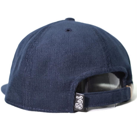 LEATHER PATCH SPRING CORDUROY STRAPBACK 6PANEL CAP (NAVY) made in japan (SH170702NVY)
