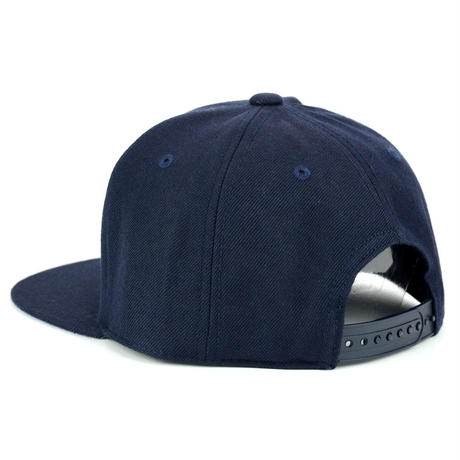 LEATHER PATCH SNAPBACK 6PANEL CAP (NAVY)(SH150202NVY)