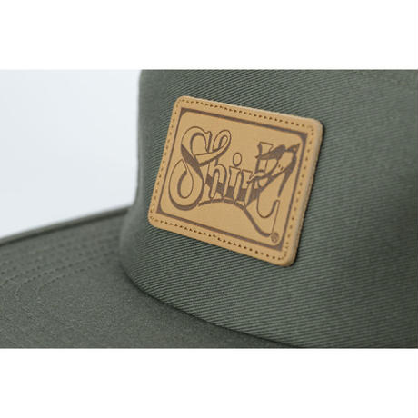 LEATHER PATCH COMFORT-5 CAP (OLIVE) made in japan(SH150102OLV)
