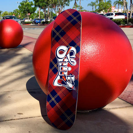 TEAM RED TARTAN CHECK  DECK  [MADE IN USA]