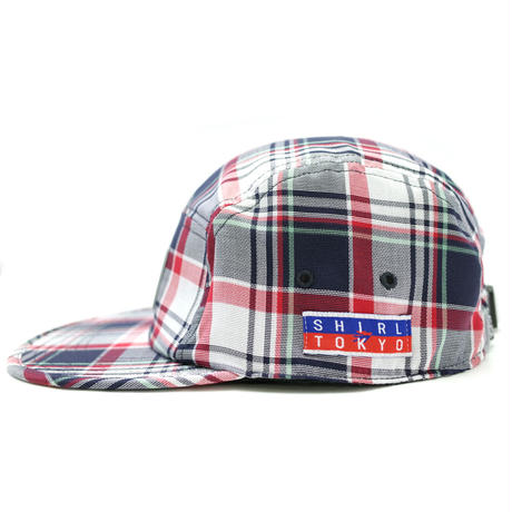 MADRAS CHECK COMFORT-5 CAP (NAVY CHECK) made in japan (SH170102CHK)