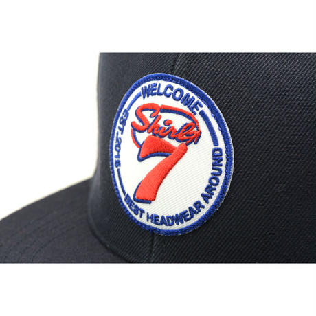 SHIRL-7 SNAPBACK 6PANEL CAP (NAVY)(SH160204NVY)