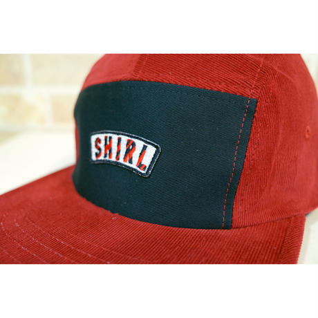 STRIPE ARCH SPRING CORD  5 PANEL CAP (RED/NAVY) made in japan (SH201013RDN)