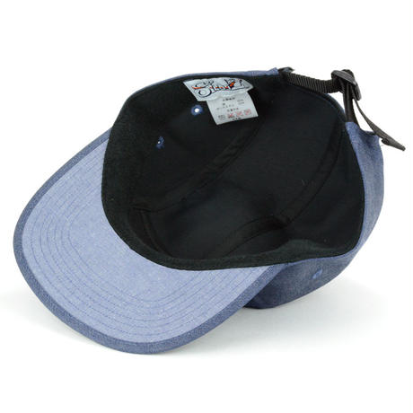LEATHER PATCH COMFORT-5 CAP (DENIM-BLACK) made in japan(SH150102DEB)