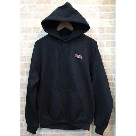 STAMP LOGO  PULL OVER HOODIE (BLACK)(SH201301BLK)