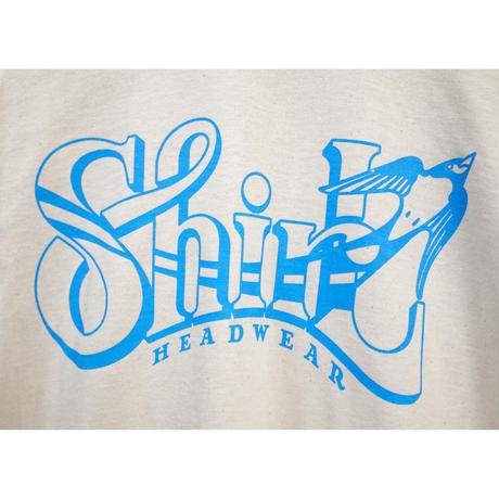 BIG SHIRL SS T-SHIRTS  (NATURALxLIGHT BLUE)(SH191202NAT)