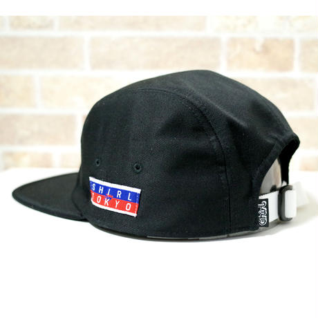 LEATHER PATCH COMFORT-5 CAP (BLACK) made in japan(SH190102BLK)