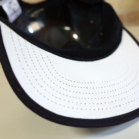"""DOT"" 5 PANEL CAP (BLACK/CYAN) made in japan (SH19020DOT)"