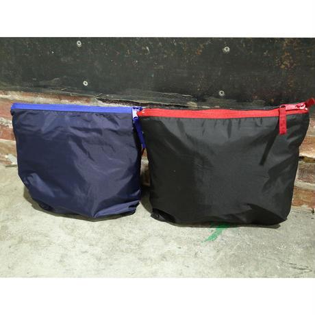 Stripe Arch Pullover Nylon Hoodie ( NAVY xBLUE) SH181713NVB