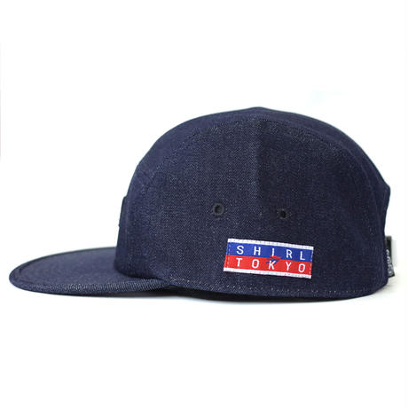 SQ PATCH INDIGO DENIM COMFORT-5 CAP (INDIGO RIGID DENIM) made in japan (SH170103DNM)