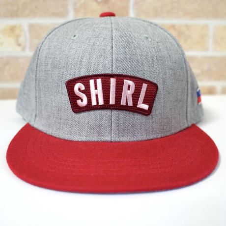 ARCH LOGO SNAPBACK 6PANEL CAP (MIX-G/RED)(SH19013GRD)