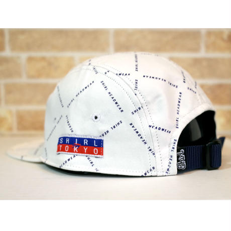 STRIPE ARCH MONOGRAM  5 PANEL CAP (WHITE) made in japan (SH201013WHT)