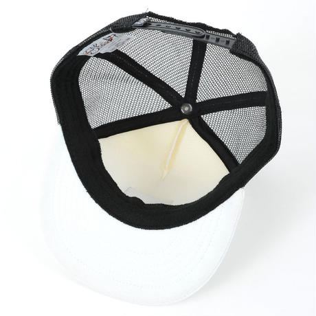 LEATHER PATCH MESH CAP (WHT/WHT/BLK)(SH160302WWB)