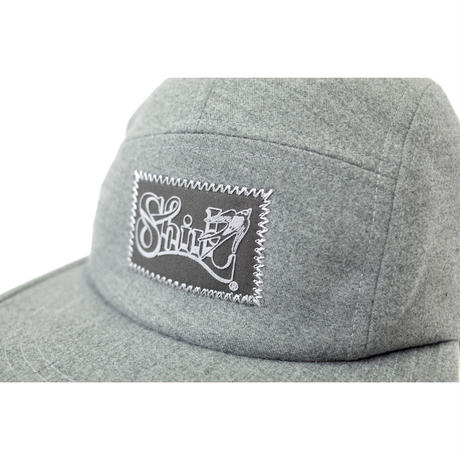 [YUSEI x SHIRL]コラボレーション  MELTON COMFORT-5 CAP (HEATHER GREY) made in japan (SH170105YSE)