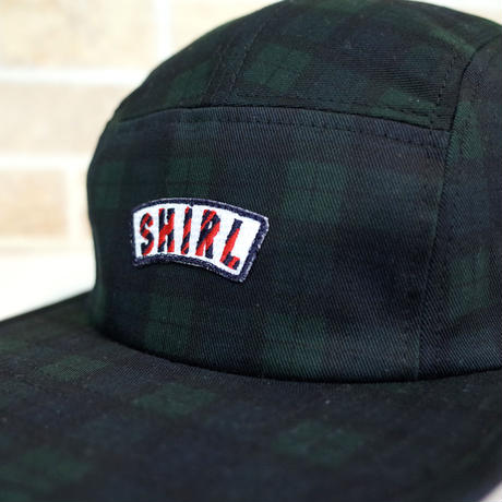 STRIPE ARCH TARTAN CHECK  5 PANEL CAP (TARTAN) made in japan (SH201013CHC)