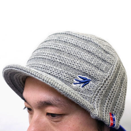 VISOR OUTLAST KNIT CAP  (MIX GREY) Made in Japan (SH160607GRY)