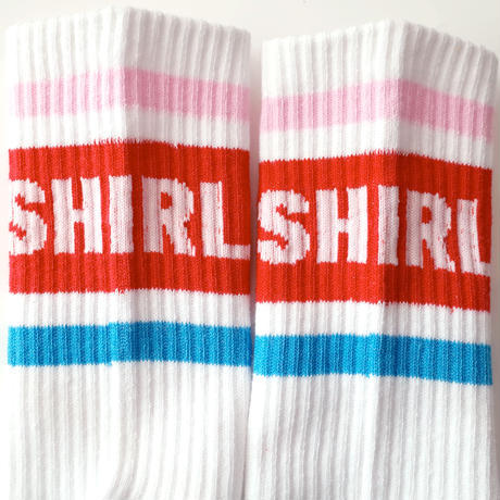 SHIRL 19CREW  SOCKS  2色セット ( RED/BLUE-NAVY/RED) (SH191601SET)  MADE IN JAPAN