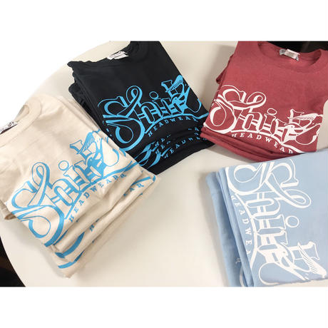 BIG SHIRL SS T-SHIRTS  (BLACKxLIGHT BLUE)(SH191202BLK)