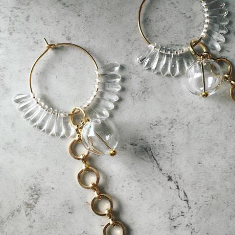 glass hoop pierce(cl
