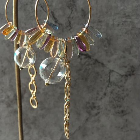 glass hoop pierce(mix