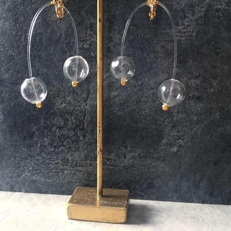twins glass blowing earring