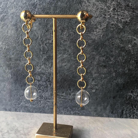 ring  glass blowing earring