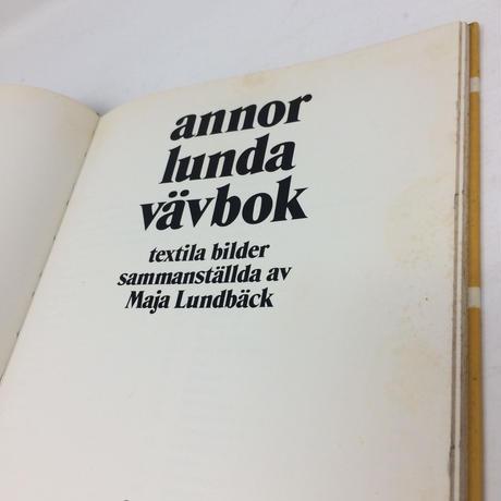 【古本】B046 annor lunda vavbok スゥエーデン パターンブック