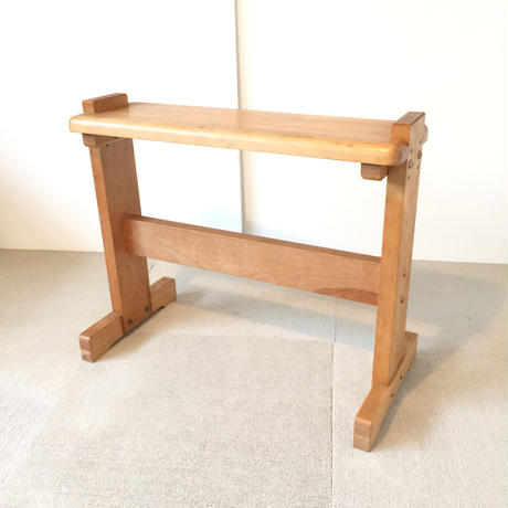 G074【USED】<東京手織>機織り用椅子  高さ変更可能 幅60cm