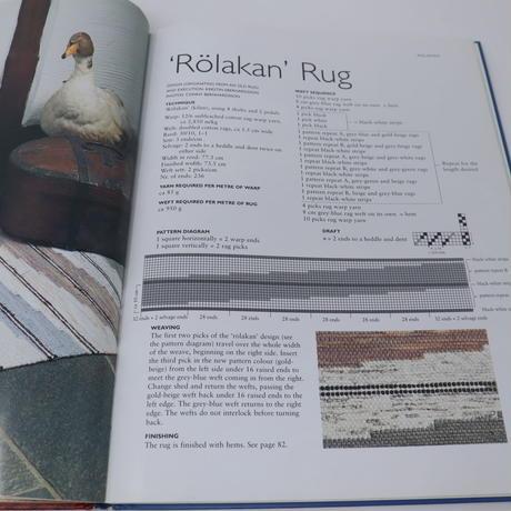 【古本】B2_20  SWEDISH RAG RUGS 35 NEW DESIGNS / Lillemor Johansson, Pia Wedderien, Marie Rolander