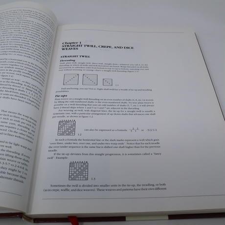【古本】B2_18 A Weaver's Book of 8 Shaft Patterns from the friends of Handwoven / Carol Strickler