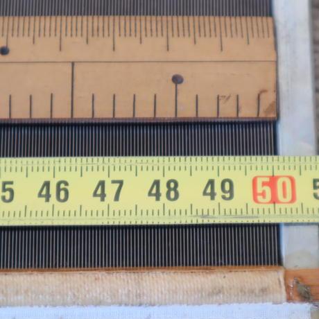 P064【USED】ステンレス筬 鯨寸60羽  内寸50 cm