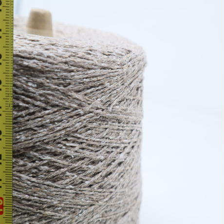 【糸】E065 三葉トレーディング社 シルクネップ ブラウン 665g(コーンの重さ込み)