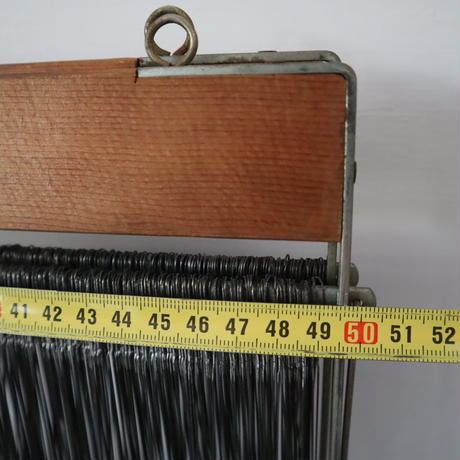 M080【USED】奥さま西陣大学 ステンレス綜絖枠50cm ステンレス綜絖付 2枚セット