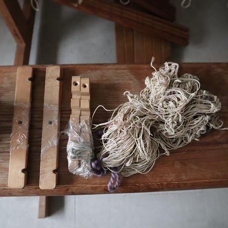 P014【USED】<Glimakra> グリモクラ 椅子付きスウェーデン製機織 踏木6枚 6枚綜絖(糸綜絖) 最大織幅100㎝