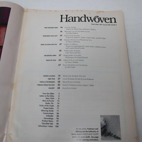 【古本】B2_177 HANDWOVEN March / April 1997