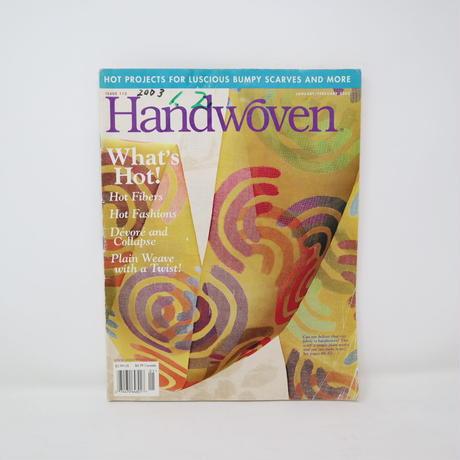 【古本】B2_205 HANDWOVEN January / February 2003