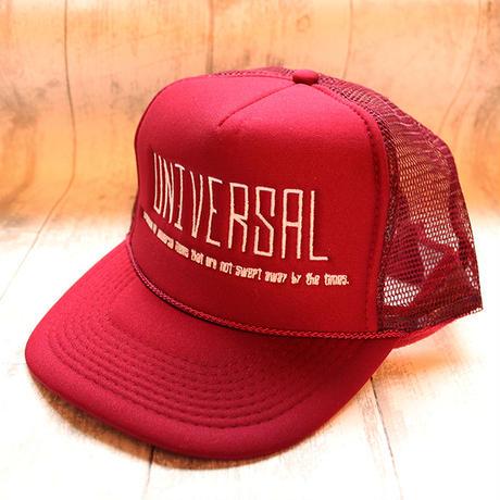 Mesh Caps / SHISYU-JAPAN 【UNIVERSAL】バーガンディー・ソリッドメッシュキャップ・刺繍キャップ・メンズ・レディース・ユニセックス
