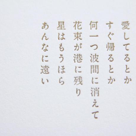 花の銅版画「星の港」